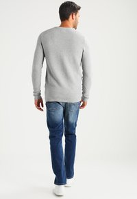 Selected Homme - SHHNEWDEAN CREW NECK - Stickad tröja - light grey melange - 2