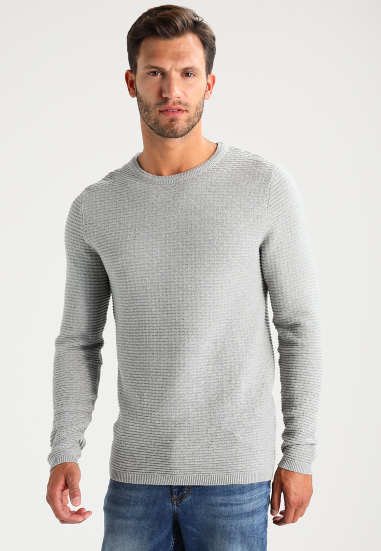 Selected Homme - SHHNEWDEAN CREW NECK - Strickpullover - light grey melange