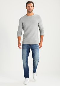 Selected Homme - SHHNEWDEAN CREW NECK - Stickad tröja - light grey melange - 1