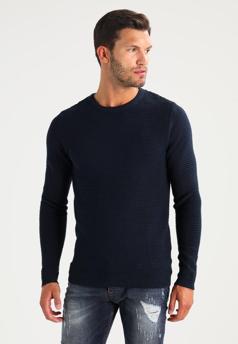 Selected Homme - SHHNEWDEAN CREW NECK - Stickad tröja - dark sapphire