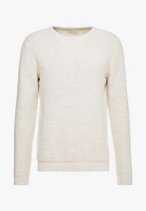 SHXNEWVINCEBUBBLE CREW NECK - Neule - egret/twisted bone white
