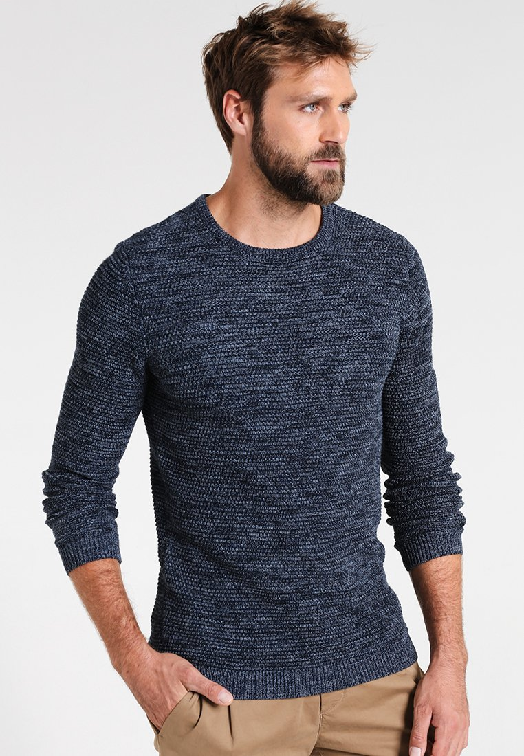 Selected Homme - SHXNEWVINCEBUBBLE CREW NECK - Neule - dark sapphire/twisted blue mirag