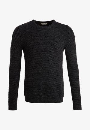 SHXNEWVINCEBUBBLE CREW NECK - Stickad tröja - anthracite/twisted black