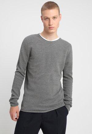 SLHROCKY  - Stickad tröja - medium grey melange