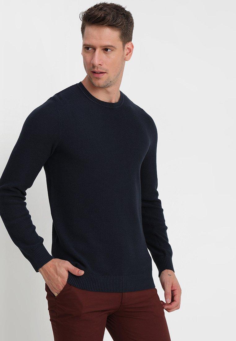 Selected Homme - SLHMAXIMUS CREW NECK - Jumper - navy blazer