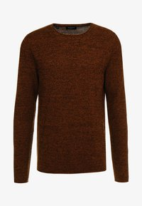 Selected Homme - SLHROCKY CREW NECK - Jumper - caramel café/black - 4