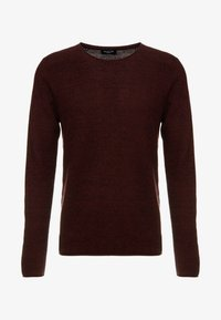 Selected Homme - SLHROCKY CREW NECK - Jumper - tawny port/black - 4