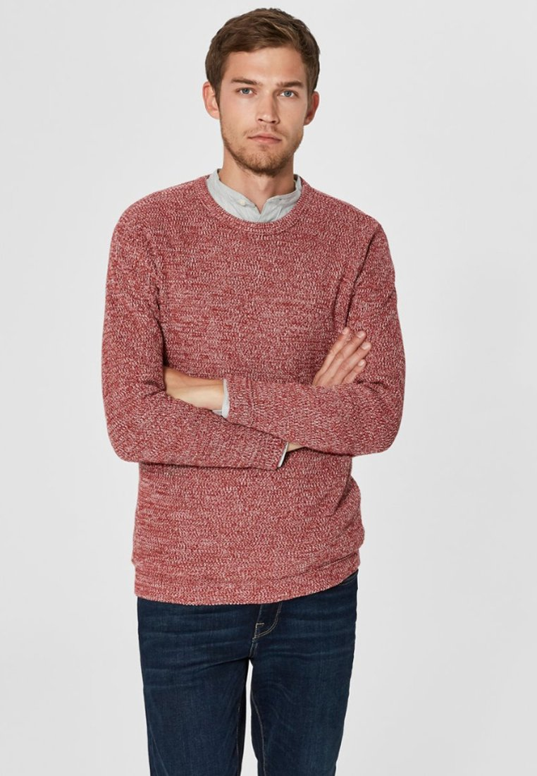 Selected Homme - SLHVICTOR CREW NECK - Trui - red