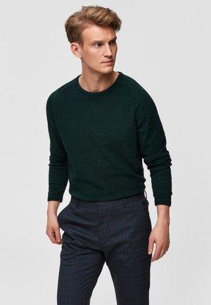 SLHBAKES CREW NECK - Trui - dark green