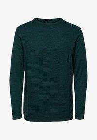 Selected Homme - SLHBAKES CREW NECK - Trui - dark green - 4