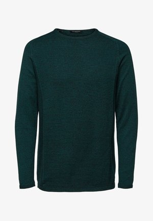 SLHBAKES CREW NECK - Svetr - dark green