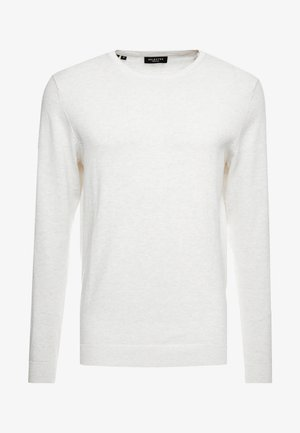 SLHTOWER CREW NECK  - Strikkegenser - white melange