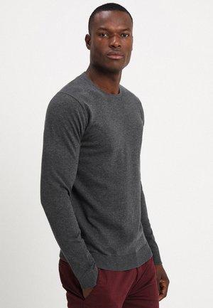 SLHTOWER CREW NECK  - Stickad tröja - medium grey melange
