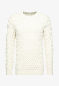 Selected Homme - SLHCHARLES CABLE BLOCKING - Stickad tröja - marshmallow - 3