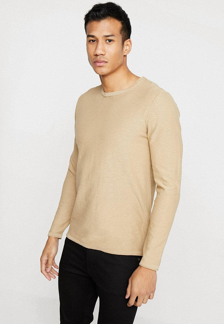 Selected Homme - SLHNEWACIDS CREW NECK - Trui - cornstalk