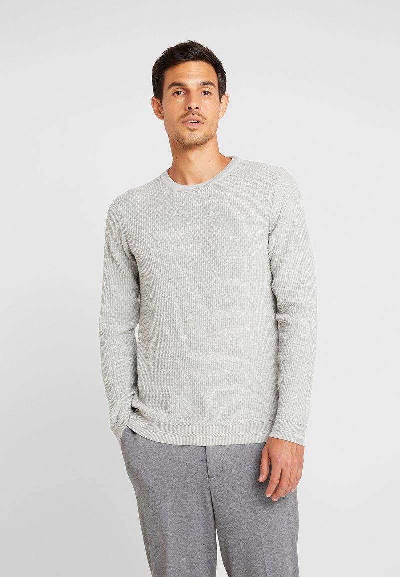 Selected Homme - SLHOLIVER  - Stickad tröja - light grey melange