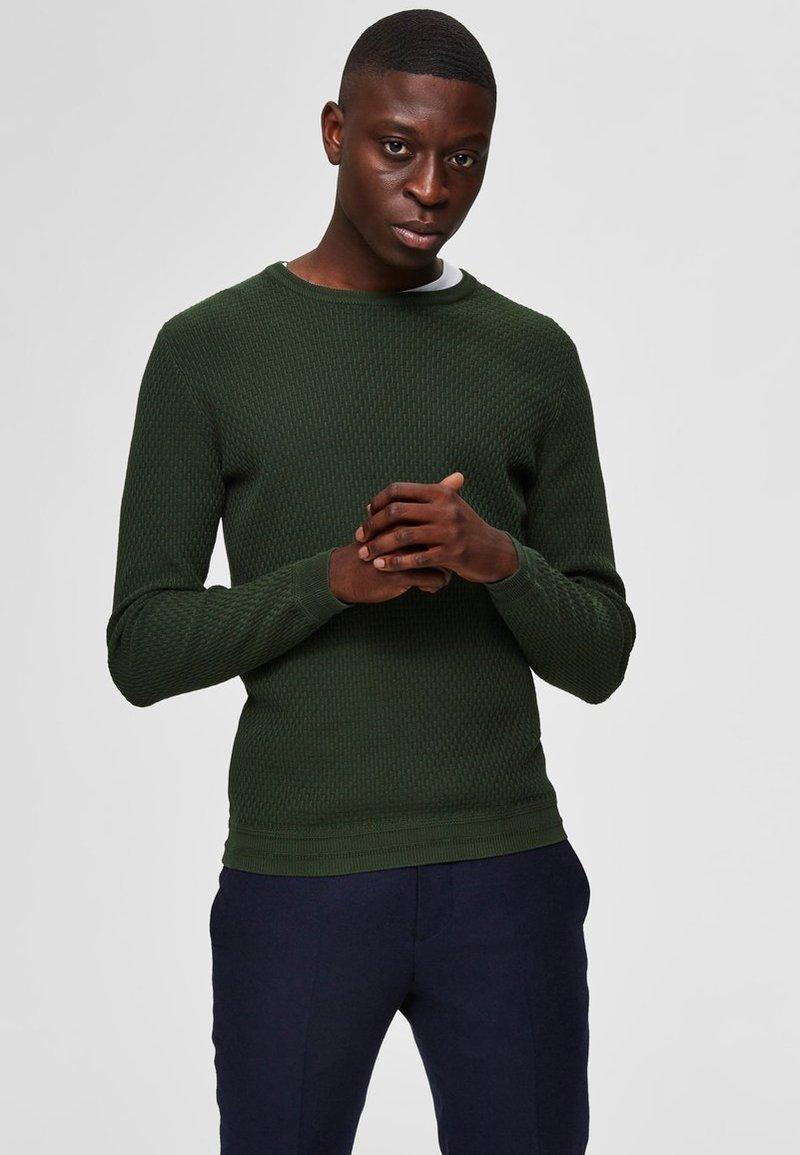 Selected Homme - SLHOLIVER  - Svetr - green