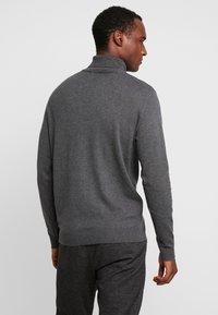 Selected Homme - SLHTOWER ROLL NECK  - Jumper - medium grey melange - 2