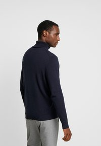 Selected Homme - SLHTOWER ROLL NECK  - Pullover - dark sapphire/melange