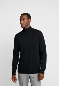 Selected Homme - SLHTOWER ROLL NECK  - Pullover - black - 0