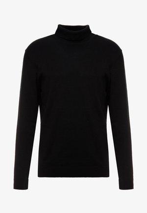 SLHTOWER ROLL NECK  - Stickad tröja - black