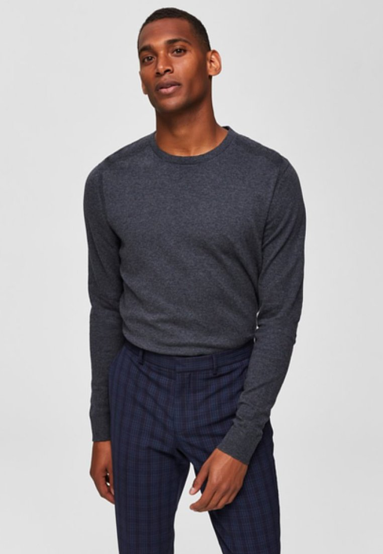 Selected Homme - Pullover - medium grey melange
