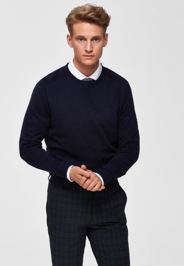 SLHDANIEL  - Stickad tröja - navy blazer