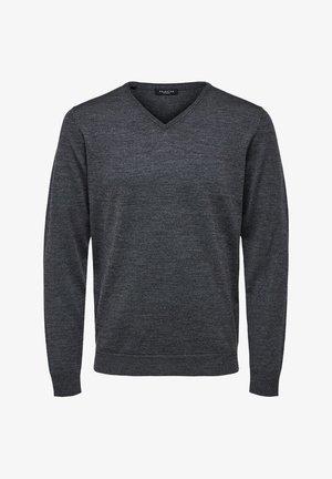 Strikpullover /Striktrøjer - medium grey melange