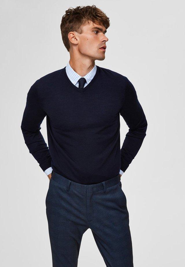 Stickad tröja - navy blazer