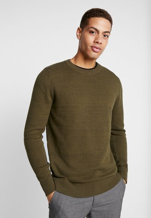 SLHISAK STRUCTURE CREW NECK  - Jumper - beech twisted