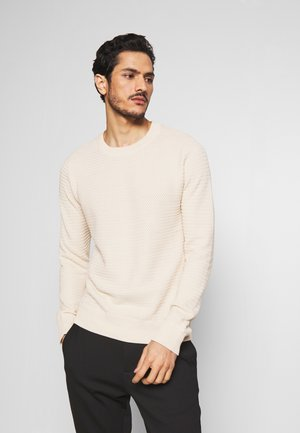 SLHTOMMY CREW NECK - Pullover - bone white
