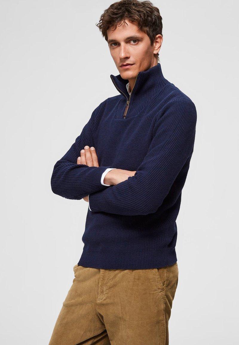 Selected Homme - Jumper - maritime blue