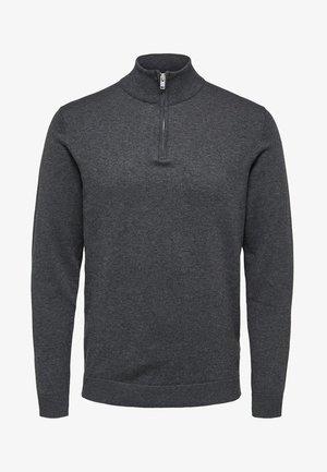 Stickad tröja - medium grey melange
