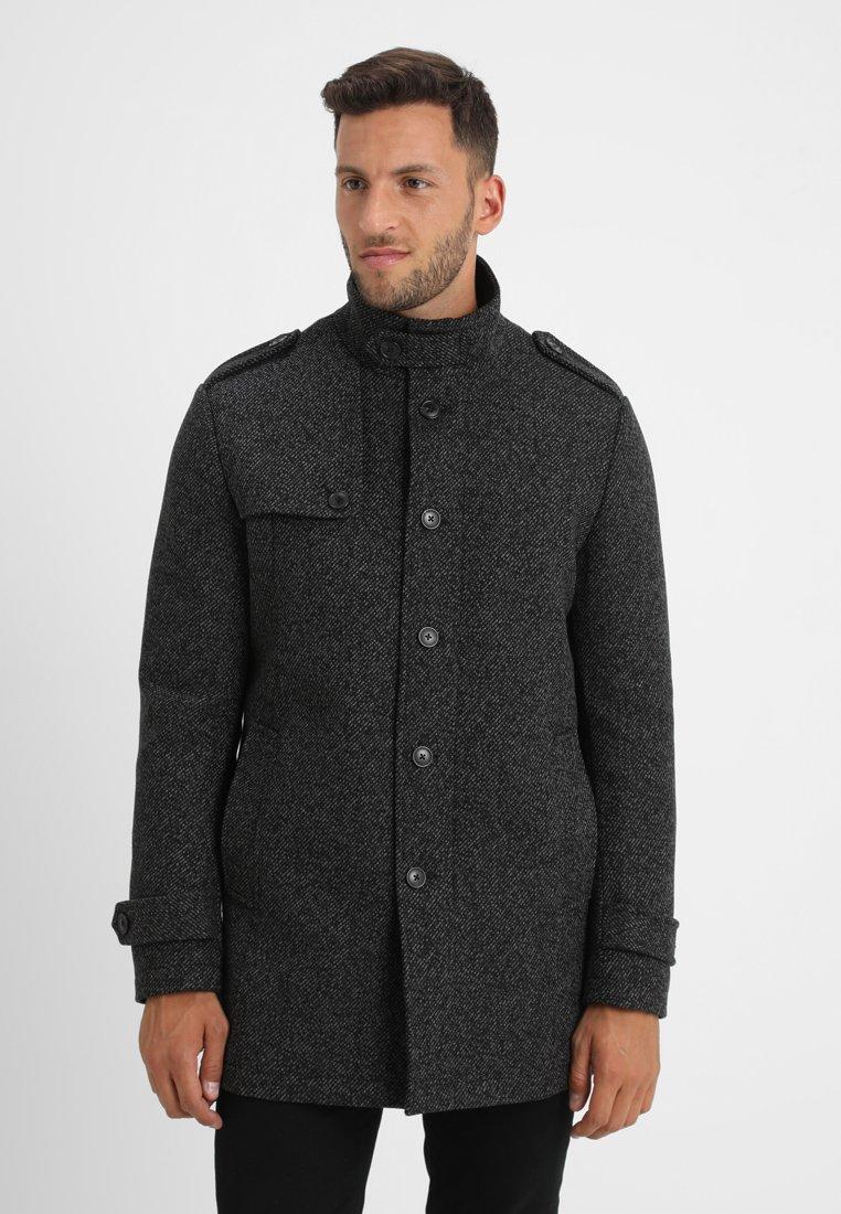 Selected Homme - SLHCOVENT COAT - Kurzmantel - black/white