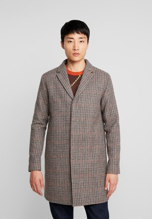 SLHBROVE COAT  - Krótki płaszcz - medium grey melange/multicolor