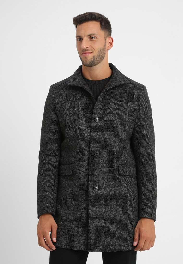 Selected Homme - SLHMOSTO COAT - Classic coat - black/white twill