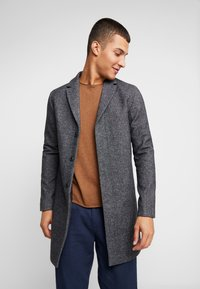 Selected Homme - SLHBROVE COAT - Abrigo - beluga/salt/pepper - 0
