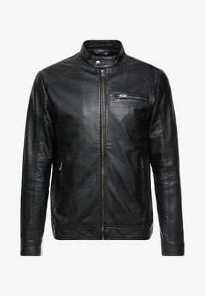 CLASSIC JACKET - Kožená bunda - black