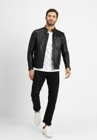 Selected Homme - CLASSIC JACKET - Leren jas - black - 1