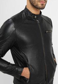 Selected Homme - CLASSIC JACKET - Leather jacket - black - 4