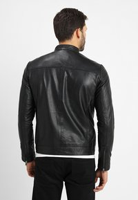 Selected Homme - CLASSIC JACKET - Leren jas - black - 2