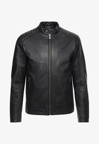 Selected Homme - RACER - Leren jas - black - 6
