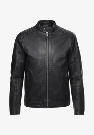 RACER - Kožená bunda - black
