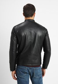 Selected Homme - RACER - Leren jas - black - 2