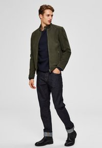 Selected Homme - Skinnjacka - forest night - 1