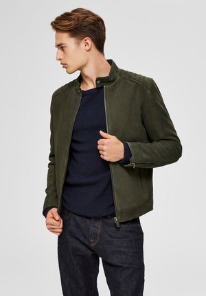 Veste en cuir - forest night