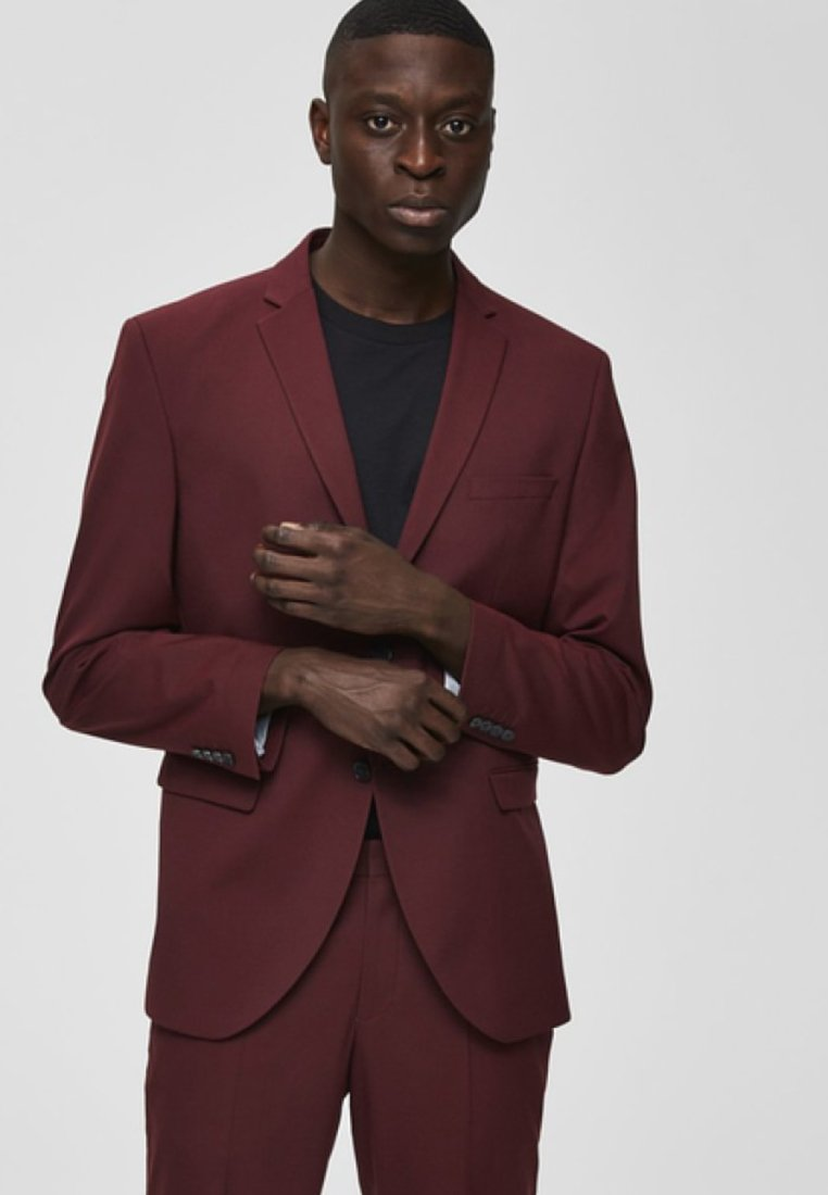 Selected Homme - Blazer - burgundy