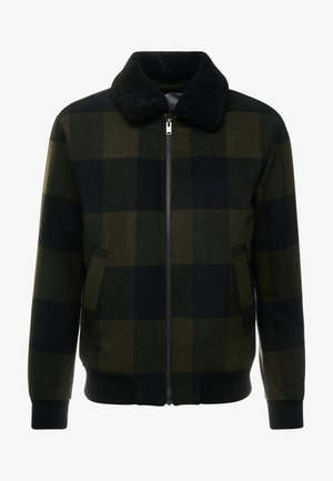 SLHUNI - Bomberjakke - olive night/black