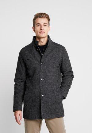 SLHHANNOVER COAT - Halflange jas - black
