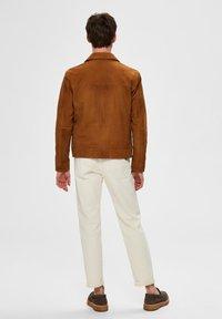 Selected Homme - Veste en cuir - brown - 2